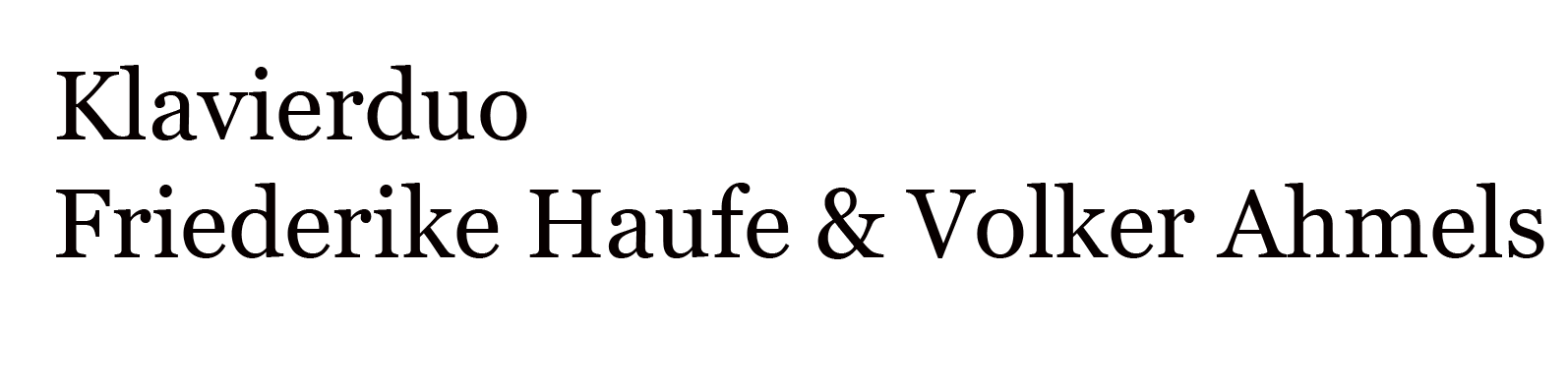 Klavierduo Friederike Haufe & Volker Ahmels
